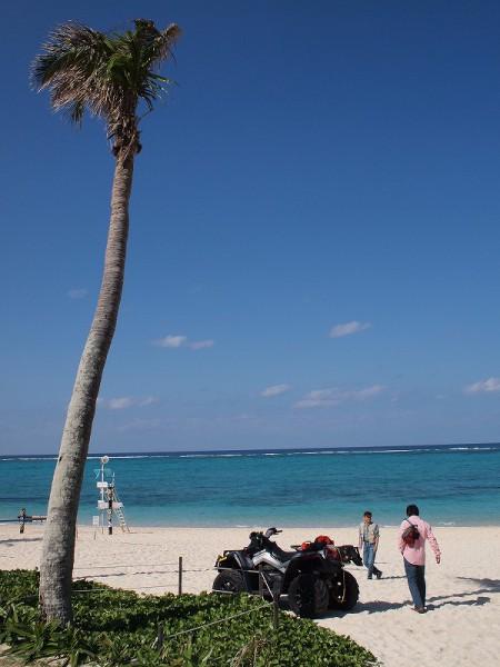 ホテルのビーチ