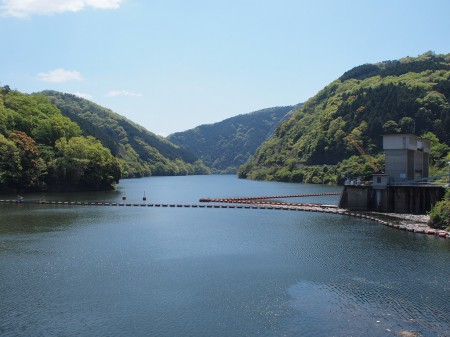 天ヶ瀬ダム、景観よろし