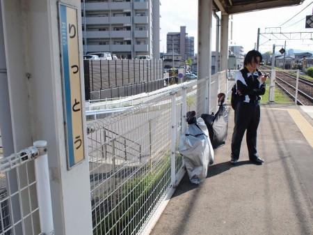 栗東駅から退散!