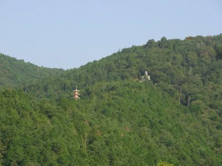 山の中の大仏