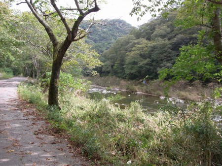 武庫川に出ました