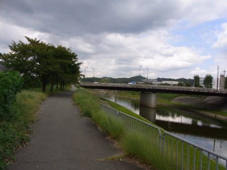 念願の武庫川沿いへ復帰