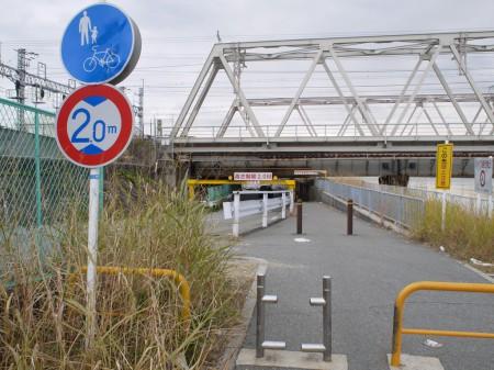 神崎川CRから2号線へ