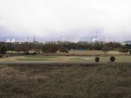 高槻方面に虹を発見
