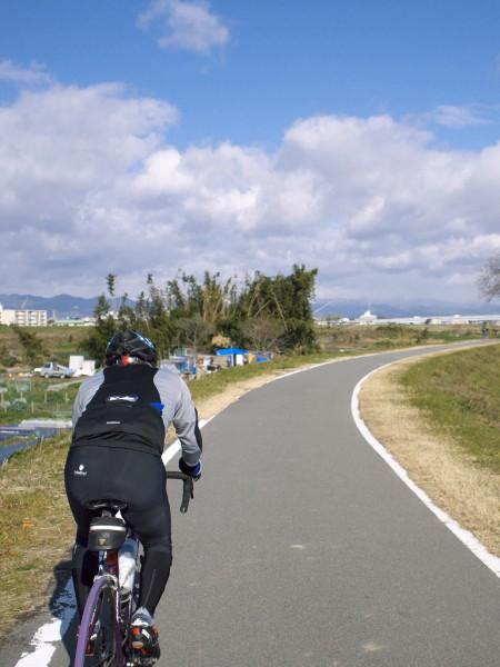桂川は向かい風