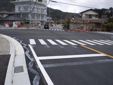 工事が終わった切畑の交差点