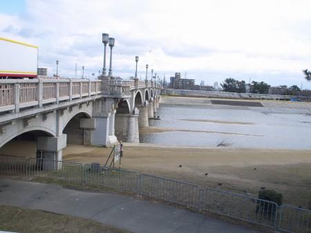 武庫川サイクリングロードへ