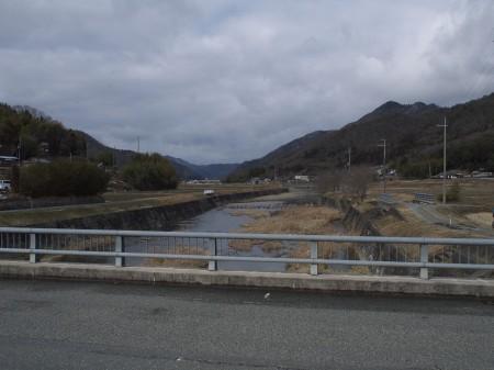 後川のほうから流れる羽束川