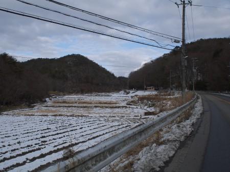 切畑の辺りも少し雪景色