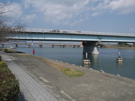 琵琶湖の入り口で折り返し