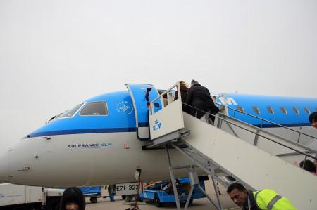 小さめの飛行機でチューリッヒへ