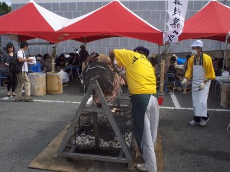 篠山牛の丸焼き!