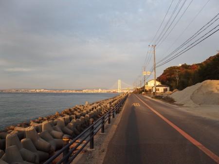明石海峡大橋が見えたらもうすぐ