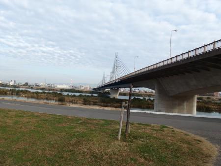 淀川沿いを枚方方面へ