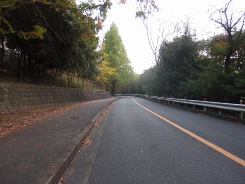 阪大前を通る