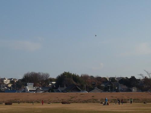 凧揚げの風景