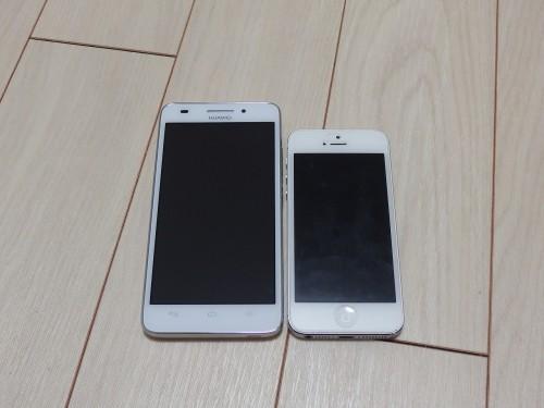 G620SとiPhone5のサイズ比較
