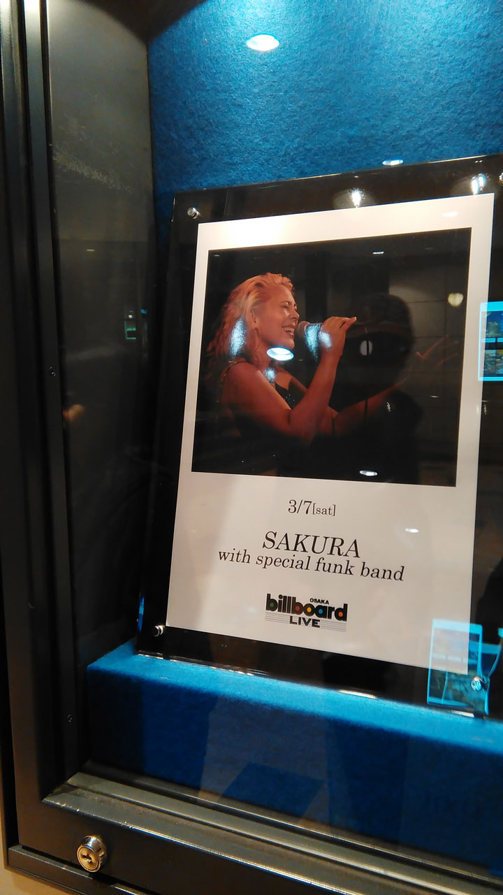 SAKURA with special funk band@Billboard Live Osaka
