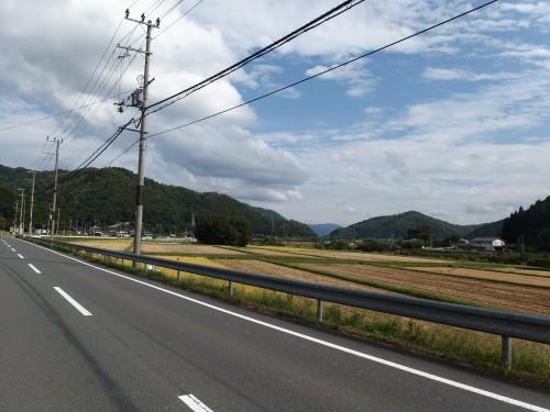 日本らしい風景を見ながら