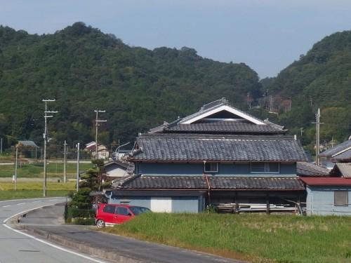 大坂峠を望む