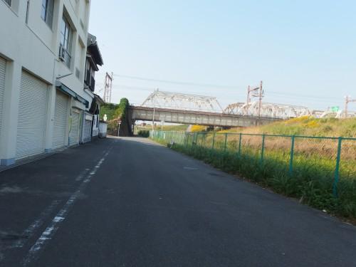 淀川沿いの一般道