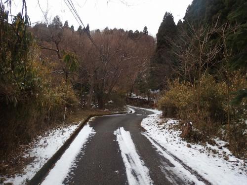 雪を避けて走る