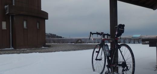 雪に自転車は合う